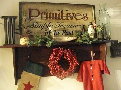 Prim Sign...Christmas treasures.