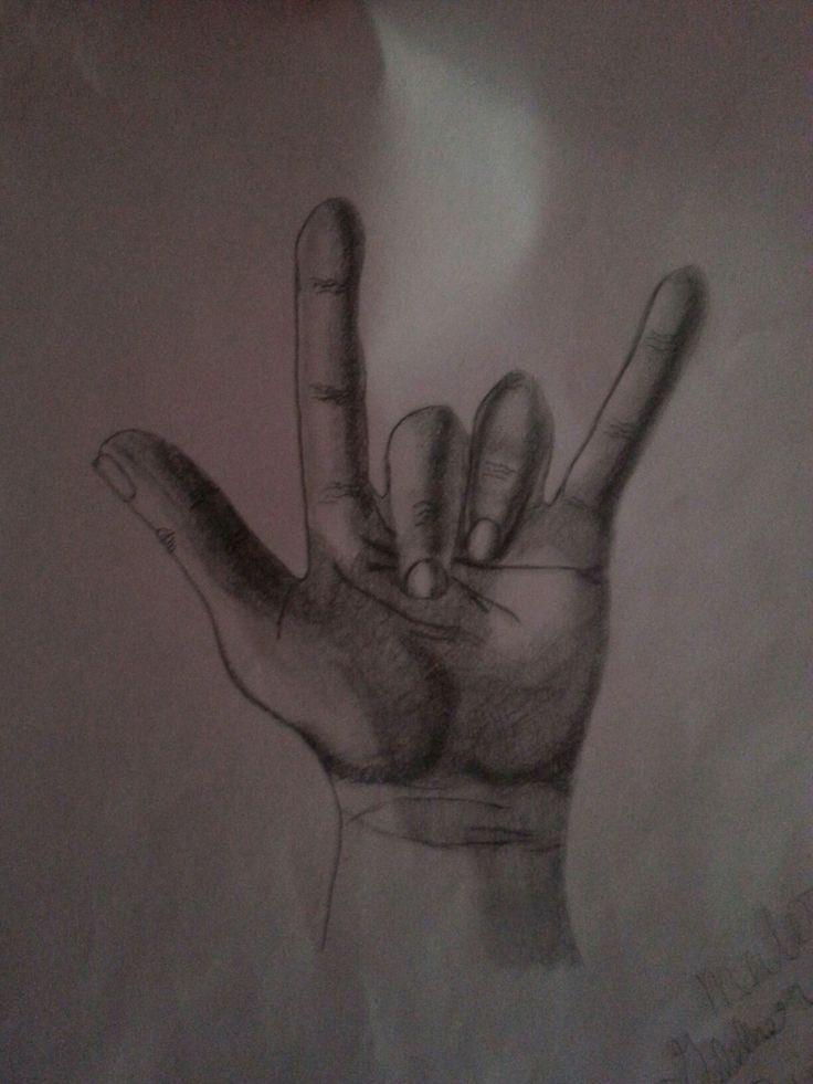 Sign language drawing