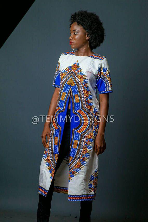 Afrikaanse kimono jurk van Ankara, Ankara weefsel, Afrikaanse weefsel, Afrikaanse print, Afrikaanse kleding, vrouwen kleding, Afrikaanse jas