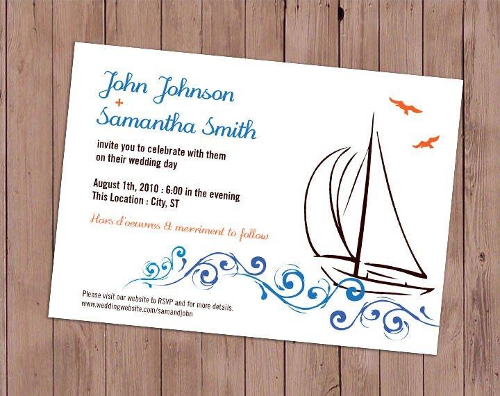 17 Best Wedding Card Design For A Nautical Theme Images On Pinterest Wedding Card Design