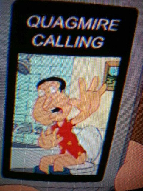 Quagmire calling, on the toilet | Character, Fictional