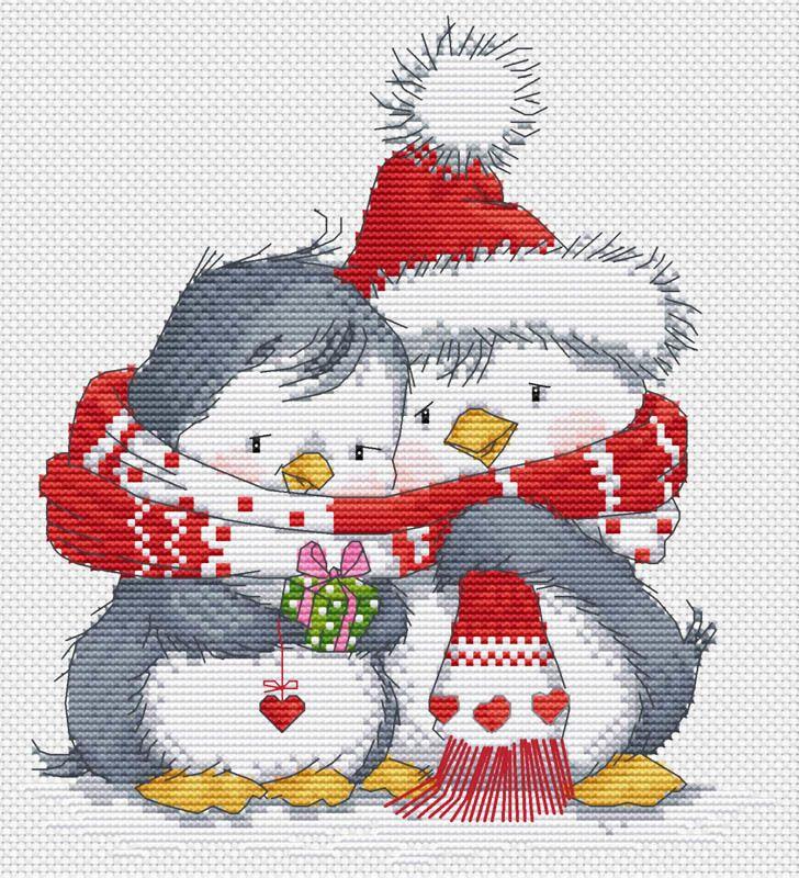 Пингвинчики, Наборы для вышивания крестиком, заказ, каталог, купить