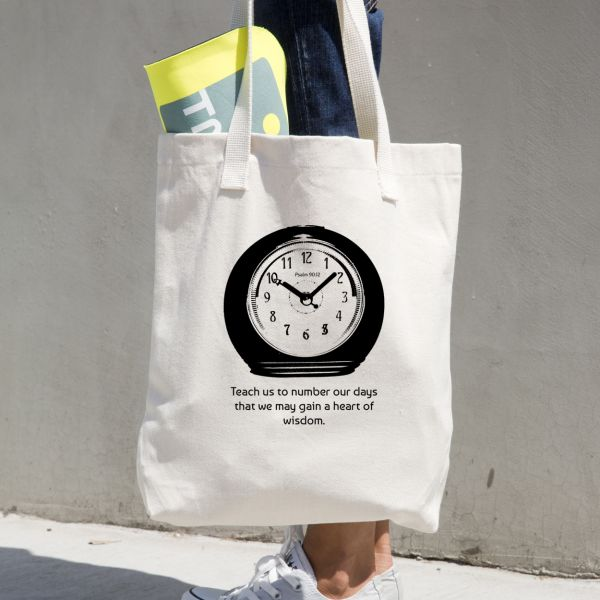 christian-graphic-tees-tote-bag-psalm90-12-clock