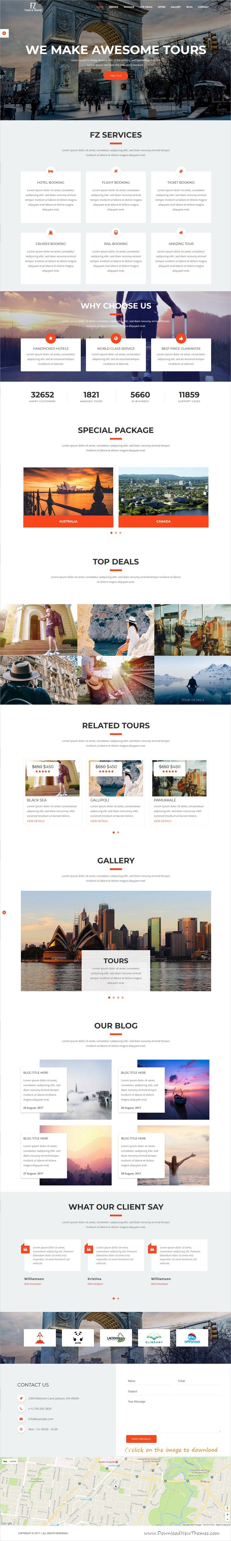 FZ is clean and modern design responsive #bootstrap template for ...
