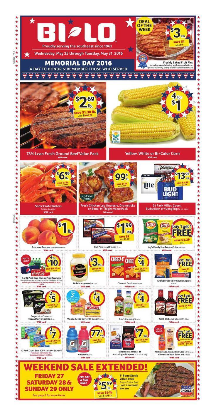 Bilo Weekly Ad May 25 - 31, 2016 - http://www.olcatalog.com/grocery/bilo-weekly-ad.html
