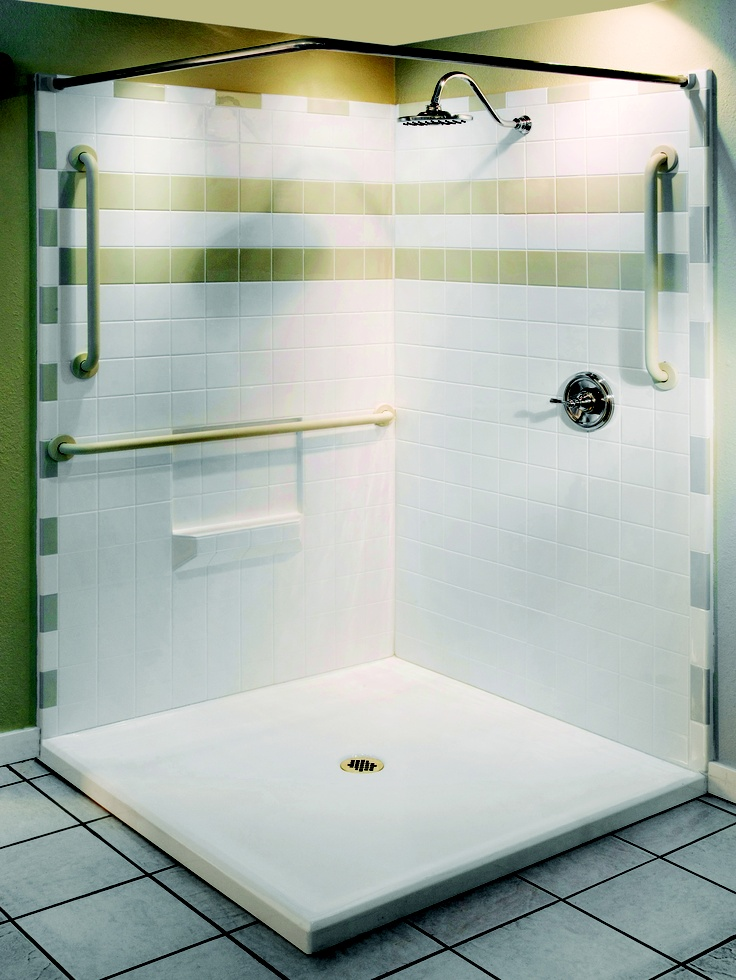 Barrier Free Shower For Easy Access. Aquassure Accessible Bath   Ph (866)  404