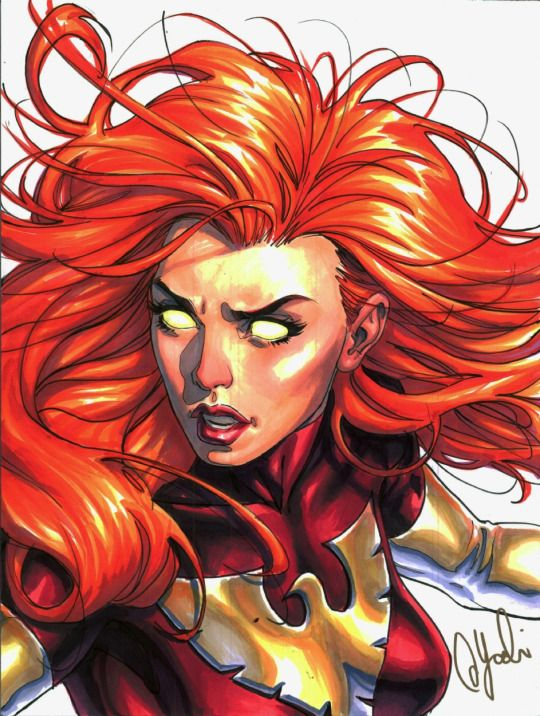 @its_danilove_xo ☄  Dark Phoenix by David Yardin  is Astonishing X
