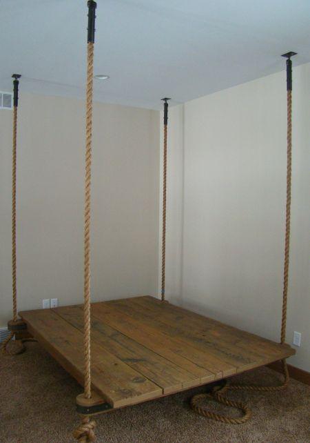 hanging bed frame