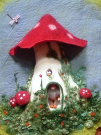 3-D mushroom gnome home
