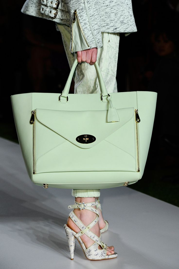 Mulberry bag in seafoam. Purdy. S/S 2013 ['wing' bag silhouette is everywhere - Celine, Philip Lim, Reed Krakoff...]