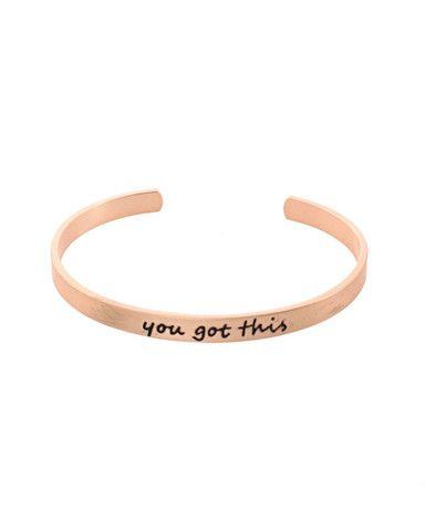 You Got This Script Cuff Bracelet