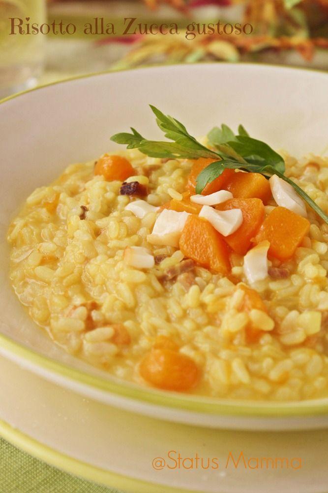 risotto alla zucca speck scamorza Giallozafferano Statusmamma blogGz primi verdura ricetta cucinare autunno