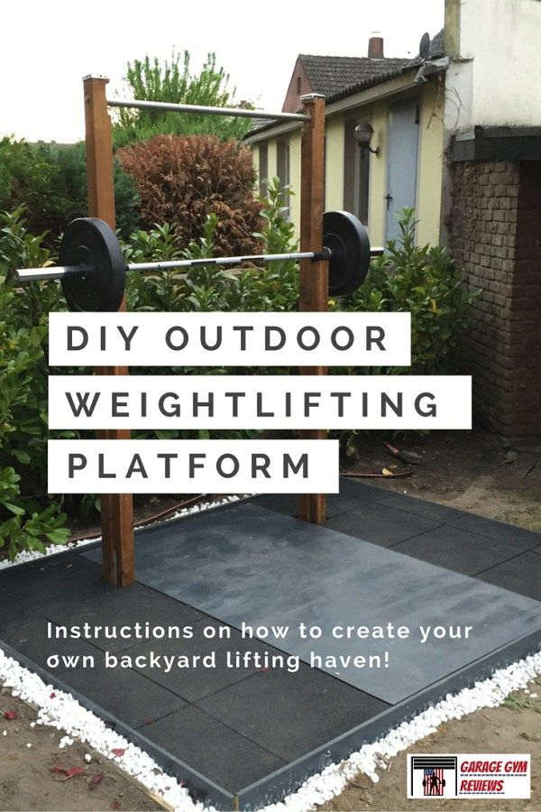 DIY Outdoor Weightlifting Platform and Squat Rack Instructions. This thing is a beast and cheap!