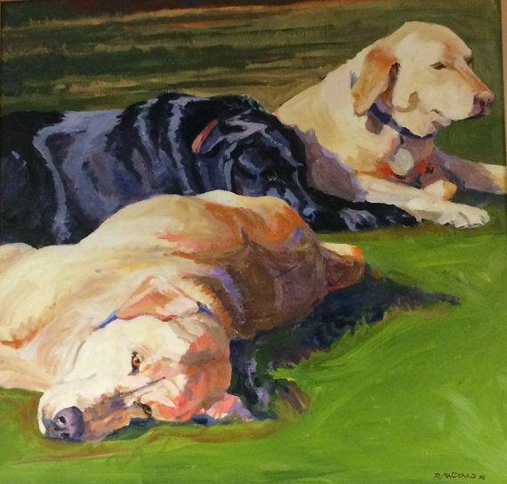 Custom oil portrait of your dog cat horse cow by bmacdonaldstudio