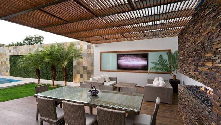 ALBERCA - TÓRTOLAS / MICHEAS ARQUITECTOS: Terrazas de estilo translation missing: mx.style.terrazas.moderno por Micheas Arquitectos