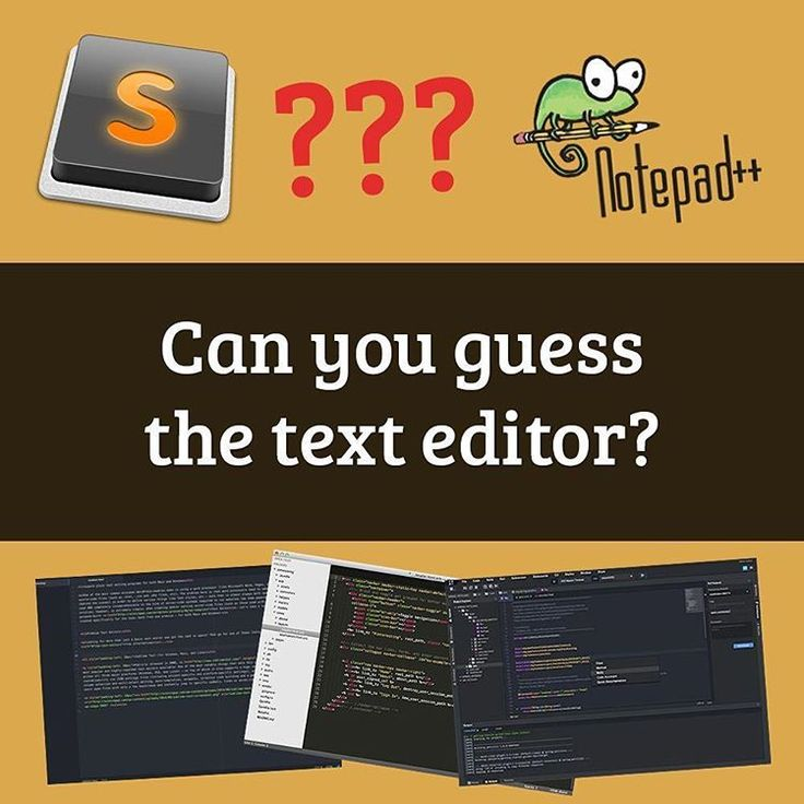 """Check out the new quiz: """"Can you guess the text editor based on the screenshot?"""" Link in my bio! #coding #css #html #javascript #webdeveloper #php #programming #coder #programmingproblem #programminglife #programmingisfun #codingproblems #webmaster #ilovecoding #phytonprogramming #codingtshirt #pythoncode #programminghumor"""
