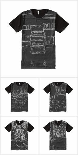 Black and white art t-shirt