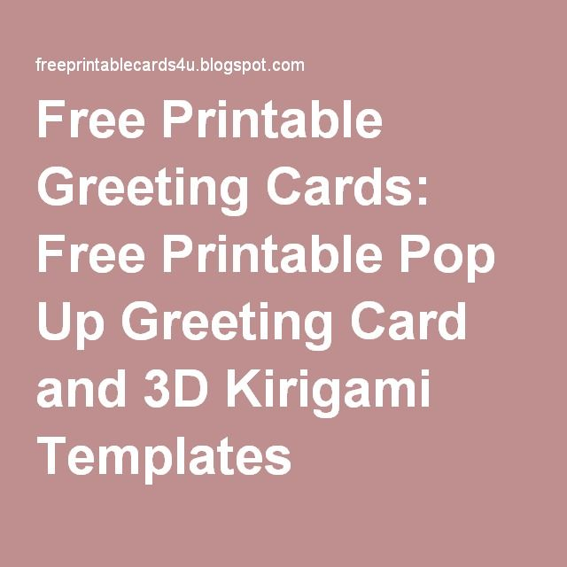 The 25+ best Kirigami templates ideas on Pinterest Kirigami - printable greeting card templates