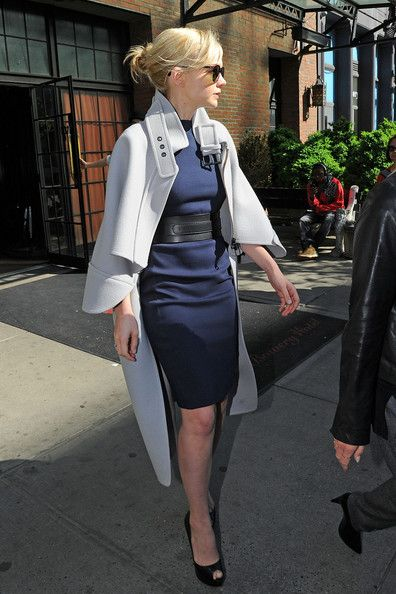 Carey Mulligan leaves her hotel for an appearance on Late Night with Jimmy Fallon TV show in New York City.