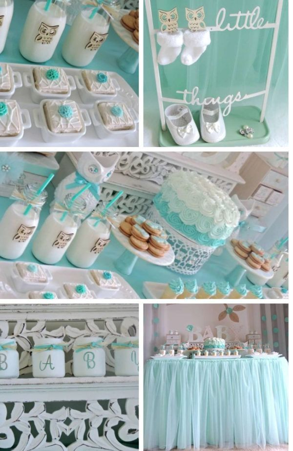 Mint Welcome Home Owl Baby Shower Mint Baby Shower Owl Shower