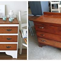 Look at this gorgeous before and after DIY project that one of our clients sent to us. They used our lovely Blake & Taylor Chalk Furniture Paint.