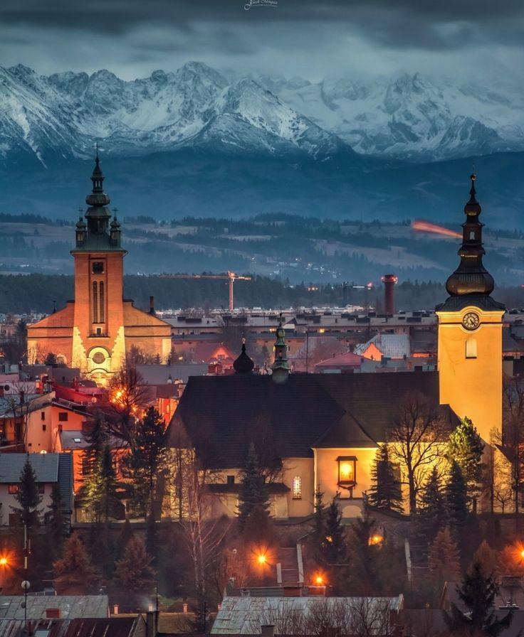 Nowy Targ Poland. city cities buildings photography