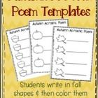 These fall acrostic poem templates are perfect for any lesson. Students write inside fall shapes and then color them. Makes a great hallway display...