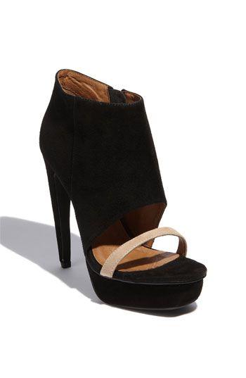 Jeffrey Campbell 'Nite Hi' Bootie Sandal | NordstromNordstrom Boots, Sizejeffrey Campbell, Campbell Nite, Footwear, Foot Forward, Black Heels, Shoes Shops, Booty Sandals, Bootie