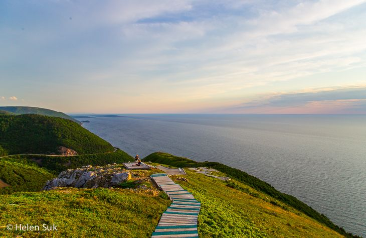 The top of the Skyline Trail on Cape Breton Island, Nova Scotia.