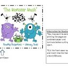 Monster Mash Reading Response CDs- great station activities