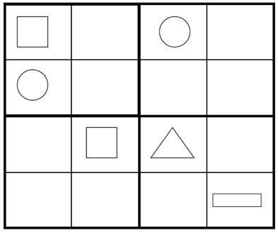 Sudoku for Kids: Kids Shape Sudoku Game 5 (PDF Version Below)