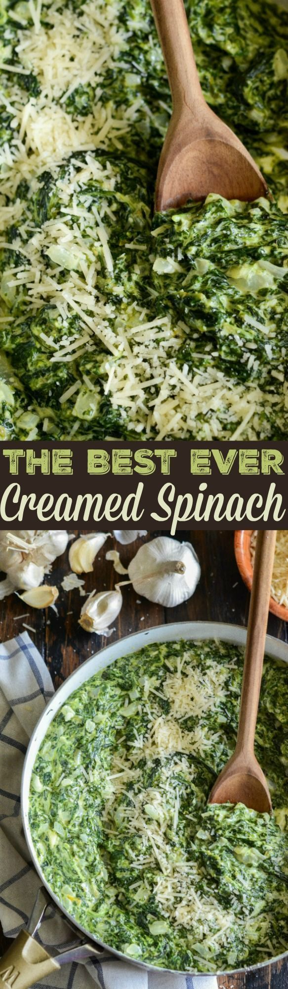 The Best Creamed Spinach: my favorite steakhouse style, extra creamy, creamed spinach takes only 15 minutes to make and is LOW CARB!