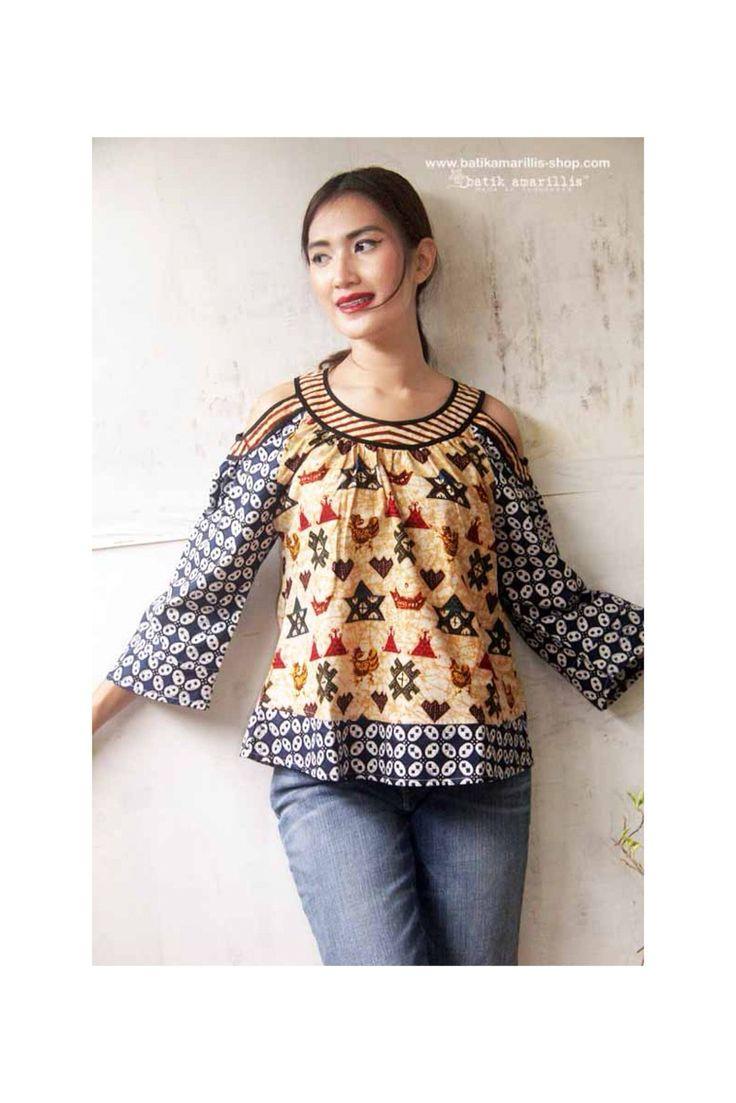 Batik Amarillis's painter blouse Available at Batik Amarillis webstore http://batikamarillis-shop.com