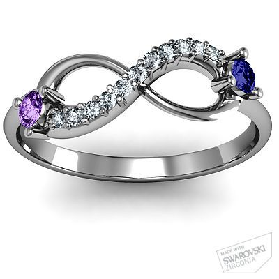 Very cute for promise ring! His & hers Birthstones! I want one, cute for an anniversary present :):)