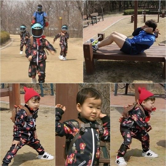 #SongTriplets ahjumma tracksuit fashion  #SupermanReturns Song Il Gook and Triplets Start Off Spring with Diet and Exercise