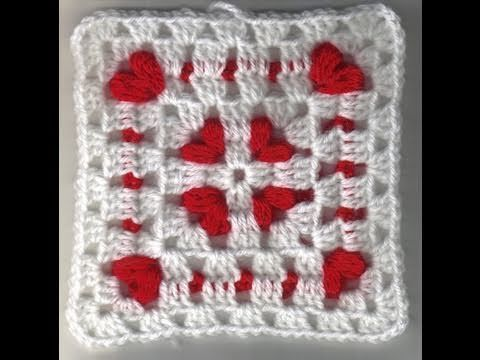 Cornered Hearts: Crochet Friendship Square Project 2011 - YouTube