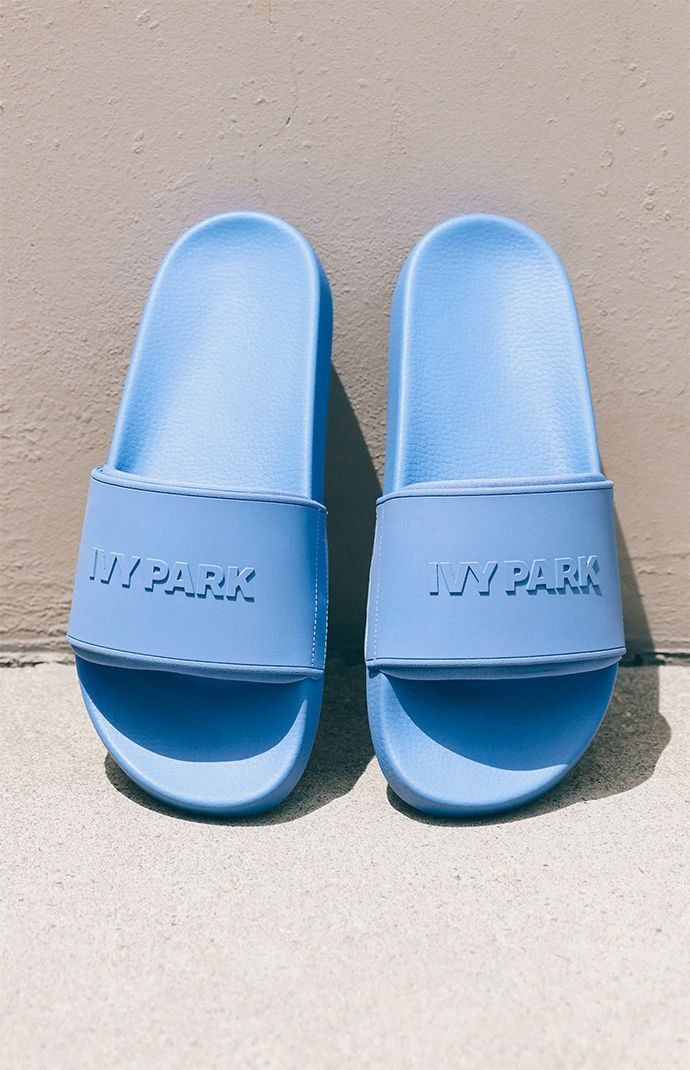 2bdfeb455187d9 Embossed Logo Pool Slides