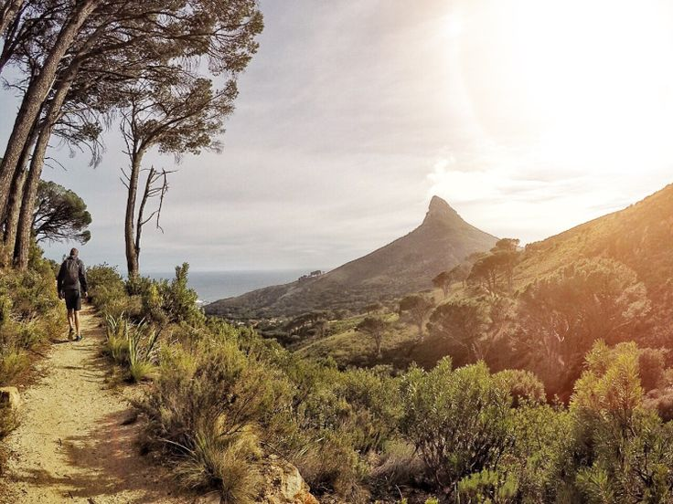 Pipetrack walk, Cape Town with Lions Head in the distance