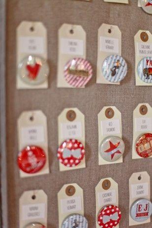 Badges plan de table