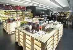 BEAUTY STORES! Korres Natural Greek cosmetics store, Prague store design