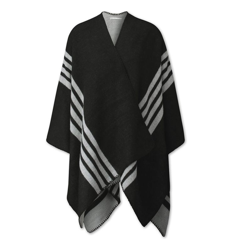 Functionimage view Poncho in negro / gris