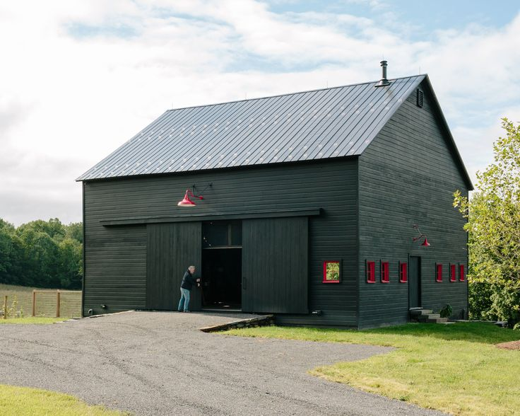 """Dwell - A Passive House and """"Sauna Tower"""" Join a 19th-Century Barn in the Hudson Valley"""