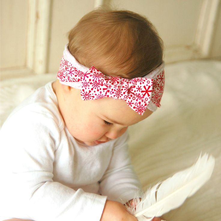 A personal favorite from my Etsy shop https://www.etsy.com/ca/listing/255705421/baby-christmas-bow-girl-headband-bow