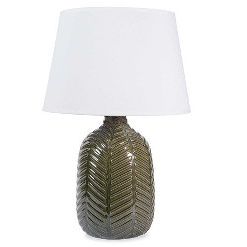 Lampada verde in ceramica H 36 cm NAMIBIE