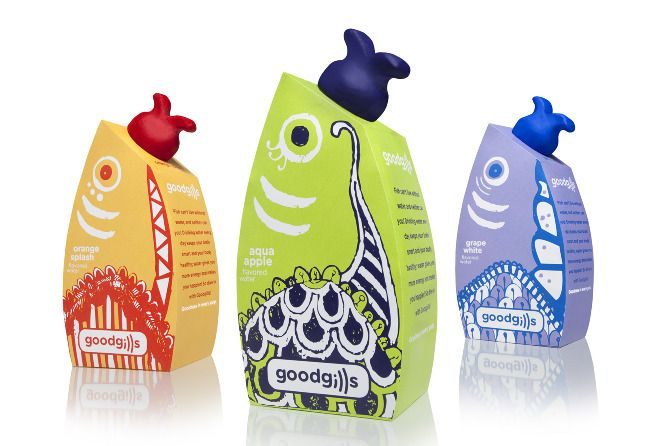 Goodgills is an eco-friendly brand of water designed to appeal to young children, encouraging them to drink more water.