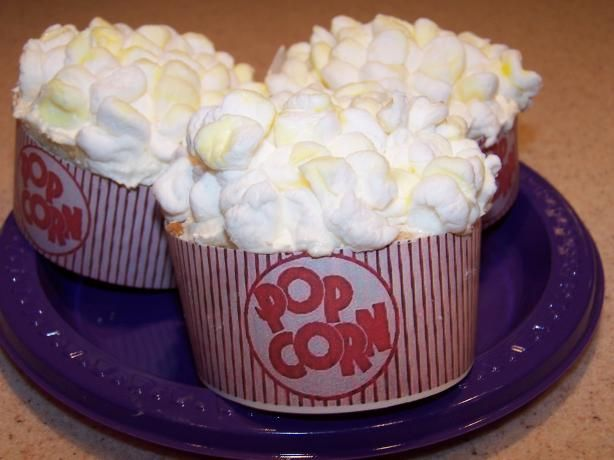 Popcorn Cupcakes (So Cute!). Photo by Cooks4_6