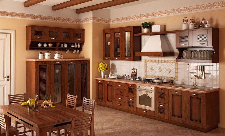 Коричневая кухня: оформление интерьера в шоколадных оттенках и 85 теплых и уютных воплощений http://happymodern.ru/korichnevaya-kuxnya-foto/ Бежевый и коричневый оттенки - лучшее сочетание в классической кухне