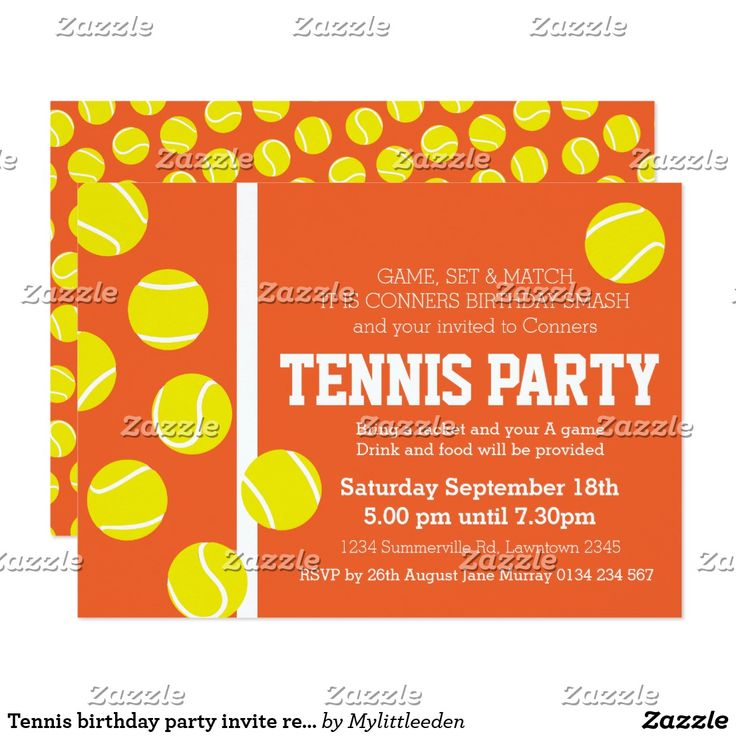 9 best Tennis Invitation Card images on Pinterest | Paper, Cheer ...
