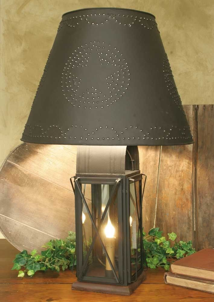 "CTW Large Milk House 4-Way Lamp With Star Shade - Rustic Brown 817116S - CTW Large Milk House 4-Way Lamp With Star Shade - Rustic Brown 817116SFeatures a mirrored back and glass on 3 sides. The mirror lifts out of the back to allow the bulb to be replaced. 6"" wide at base and 22"" tall to top of finial. Comes with a 10.5 harp. Includes a 19"" x 17"" x 12"" Star lamp shade. Order with confidence Our shades work with the CF and the LED light bulbs as well as incandescent bulbs. Shown with a…"