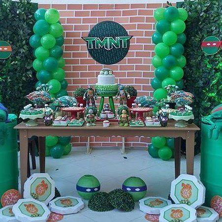 Ideas para fiestas infantiles de las tortugas ninja http://tutusparafiestas.com/ideas-fiestas-infantiles-las-tortugas-ninja/